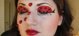 apply ladybug makeup for