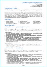 A Winning Resumes Cleaner Cv Example Page 1 Write A Winning Cleaner Cv With