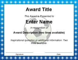 soccer awards templates modern award certificate templates
