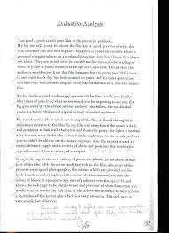 Critical Evaluation Essay Example Critical Analysis Film Essay