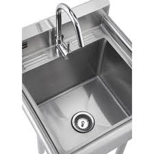 Whole Kitchen Faucets Trinity 23 X 23 Single Stainless Steel Utility Sink With Faucet