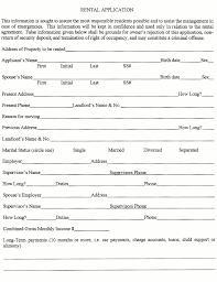 Renters Application Template Printable Sample Rental Application Template Form Real Estate