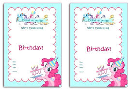 Free Templates For Invitations Birthday Custom My Little Pony Invitations Birthday Invitation Party Template Free