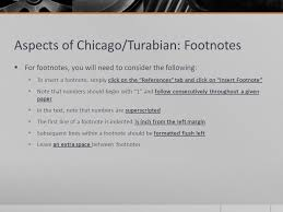 writing style overview mla apa chicago turabian ppt video aspects of chicago turabian footnotes