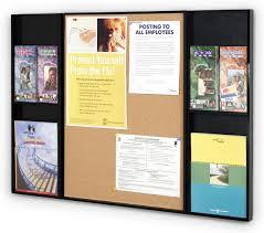 Cork boards for walls Tile Jenn Ski Information Display With Pinnable Cork Board Pamphlet Pockets