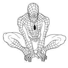 Spiderman Coloring Pages Pdf Unique Coloring Easy Spiderman