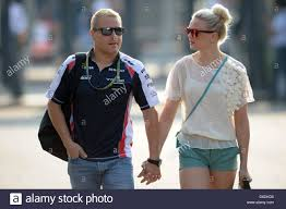 test track stock photos test track stock images alamy finnish formula one test driver valtteri bottas of williams and his girlfriend arrive the paddock at