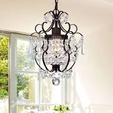 Rosalie 1-light Antique Bronze 11-inch Crystal Chandelier - Free Shipping  Today - Overstock.com - 17854560