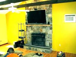 how to mount tv above fireplace hanging no studs over