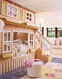 Utilizing A Narrow Space With Cool Loft Beds For Kids Kids Bedroom