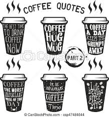 Vector Coffee Quotes And Sayings Typography Set Vector Coffee Quote Impressive Coffee Quotes
