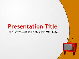tv powerpoint templates free tv powerpoint template pptmag