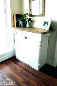 wood tilt out trash bin diy can cabinet small size of w