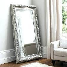 silver standing mirror floor eclipse leaner rectangular in free68 mirror