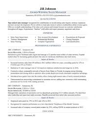 Sample Resume For Sales Manager Cves Medical Device Examples Letter