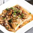 baked fish with mushrooms and cream
