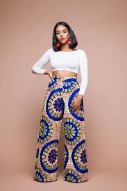 African Trousers Designs Tamdja African Print Wide Leg Trousers African Print Pants