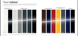 Audi A3 Colour Chart Audi Colour Chart British Automotive