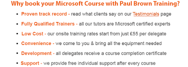 Brown Microsoft Office Microsoft Training Courses Paul Brown Training Limited