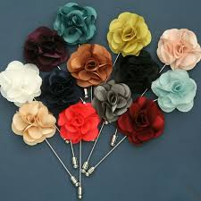 men s suits flowers brooches for wedding pin up insert long lapel
