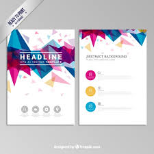 Flyer Design Free Brochure With Colorful Geometric Design Vector Free Download