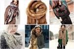 Какие модные шарф 2017 году