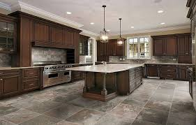 Beautiful Kitchen Floor Tiles With Dark Cabinets Rustic Island Pendant Lighting Feat Wood To Inspiration