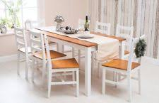 solid pine wood dining set table and chairs dining room furniture white honey