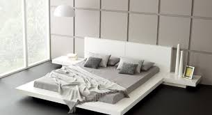 White modern platform bed Japanese Style Fujian Modern Platform Bed glossy White 31 Touch To Zoom Modern Furniture By Matisse Fujian Modern Platform Bed glossy White Matisseco