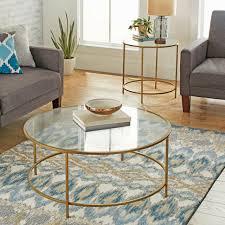 bronze round coffee table