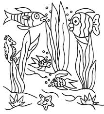 Fishes Underwater Coloring Pages | under the sea | Pinterest ...