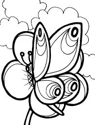 Flowers Coloring Pages For Adults Butterfly And Flower Coloring