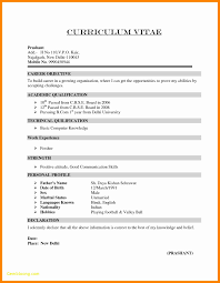 Resume Template For Freshers Free Download 13 Inspirational
