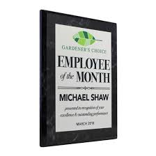 Emploee Of The Month Employee Of The Month Plaque Style 1