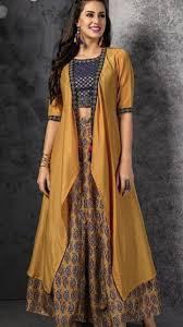 Designer Long Skirt Dresses Beautiful Jacket With Top And Skirt Designer Dresses