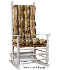 custom rocking chair cushion set stripes