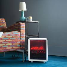 Electric Fireplace Small Space Heater Portable Ceramic Home Room ...