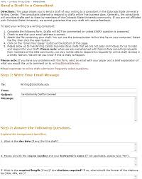 Draft Paper Online Send A Draft To The Writing Center
