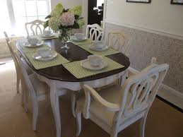 French Dining Room Chairs Modern French Dining Room Design With Scalloped Mirror Espresso