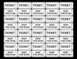 Free Printable Raffle Ticket Templates – Blank Downloadable PDFs Raffle Tickets without Numbers