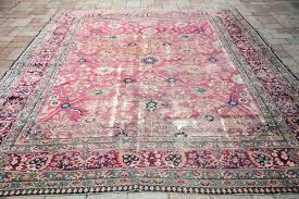 luxury faded oriental rug for pink small 87 red