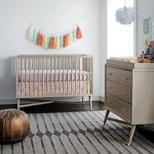 dwell studio mid century  in  crib french grey  tjskidscom