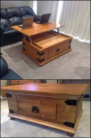 Retractable Coffee Table How To Build A Diy Lift Top Coffee Table Http Diyprojects