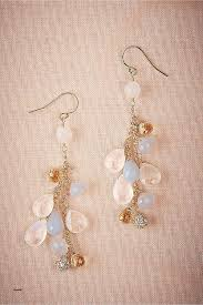 bridal chandelier earrings with pearls beautiful bhldn cecilia chandelier earrings champagne quartz moonstone and
