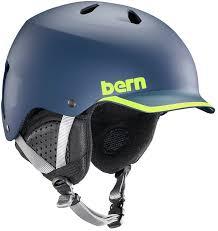 Bern Womens Helmet Size Chart Bern Watts Eps Winter Snowboard Helmet S Matte Navy Hyper Green