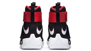 lebron shoes soldier 10 red and black. nike lebron soldier 10 bred black red white shoes and