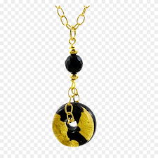 savvy cie gold leaf murano life saver onyc necklace gold leaf png