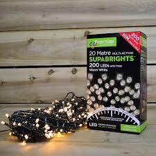 Supabright Led Lights 200 Led 16 Meter Premier Supabright Led Lights With Timer