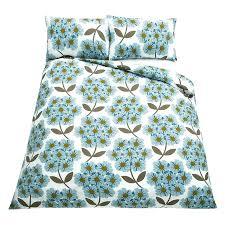orlakiely bedding bed sheets duvet set giant flower spot concrete