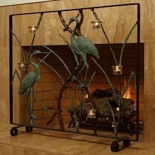 bronze fireplace screen